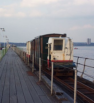 Hythe Pier, Railway and Ferry - The pier with the pier train
