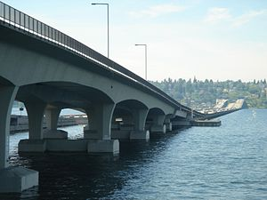 Homer M. Hadley Memorial Bridge - Looking west toward Seattle, Washington