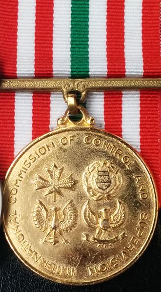 International Commission of Control and Supervision Medal - Image: ICC Smedal