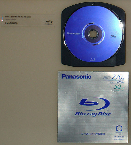 File:IFA 2005 Panasonic Blu-ray Disc Dual Layer 50GB BD-RE (LM-BRM50) (Cartridge) (by HDTVTotalDOTcom).jpg