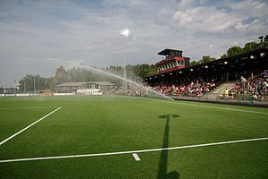 Swedish Football Division 1 Norra - Grimsta IP in Stockholm.
