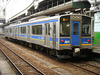 Iwate Galaxy Railway Line - An IGR 7000 series EMU at Morioka Station, March 2007