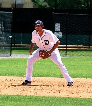 Nicholas Castellanos - Castellanos fielding for the Tigers in spring training, 2012