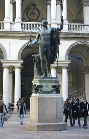 Napoleon as Mars the Peacemaker - The 1811 bronze copy of the statue in the courtyard of Palazzo Brera, Milan