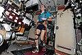 ISS-38 Sergey Ryazansky exercises on the TVIS.jpg