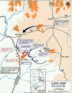 Battle of Ia Drang - Wikipedia on san luis valley map, battle of khe sanh map, loc ninh vietnam map, battle of hamburger hill map, camp evans vietnam map, happy valley vietnam map, hamburger hill vietnam map,