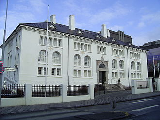 National and University Library of Iceland - Safnahúsið, where the National Library of Iceland was from 1908 to 1994