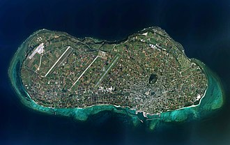 Iejima - Aerial view of Ie Island