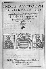 Index Librorum Prohibitorum - Wikipedia, the free encyclopedia