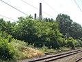 Industrial Park factory chimneys and HÉV station buffer, 2019 Szigetszentmiklós.jpg