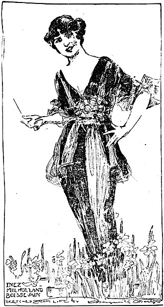 Inez Milholland - Sketched by Marguerite Martyn, 1914