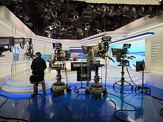 Set of La 1's newscast services. Informativos RTVE (29084178462).jpg