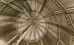 Inside the balloon section of the R100 Airship at Howden Aerodrome 1933 (archive ref DDX1017-1) (25401055504).jpg