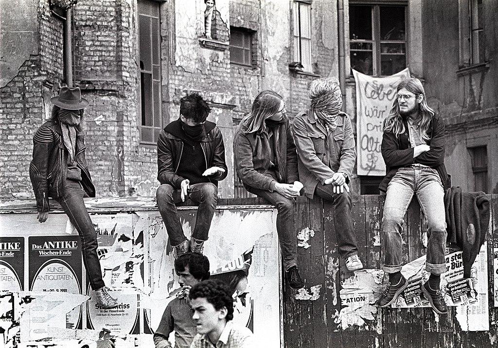 Squatters à Berlin dans le quartier de Kreuzberg en 1981.