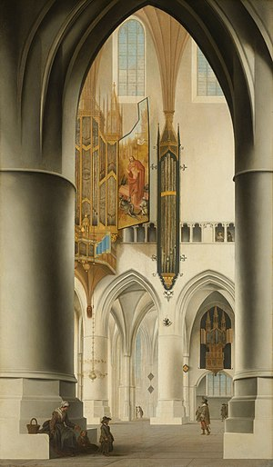 Swallow's nest organ - A swallow's nest organ in the Grote Kerk, Haarlem, depicted by Saenredam in 1636.
