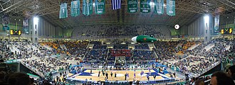 EuroBasket 1995 - Image: Interior of OAKA Olympic Indoor Hall, Athens