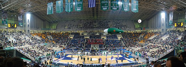 Interior of the Nikos Galis Olympic Indoor Hall