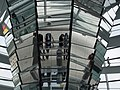 Interior of Reichstag dome (2003).jpg