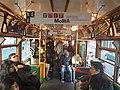 Interior of city circle tram, Melbourne.jpg