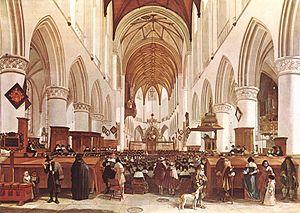 Gerrit Berckheyde - Interior of St. Bavochurch, Haarlem
