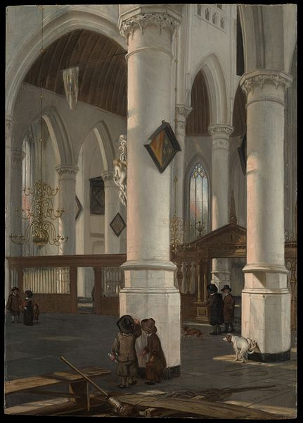 File:Interior of the Oude Kerk, Delft MET DP145954.jpg