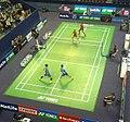 Internationaux de France de badminton 2016 - Quarter finals - Women's doubles 06.jpg