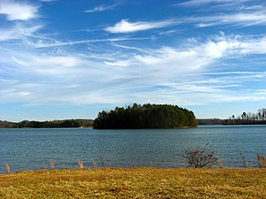 Keowee - View of Lake Keowee from north of Betty Branch