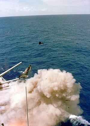 USS Iowa turret explosion - Image: Iowa Turret Explosion 1