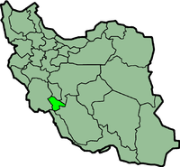 Map of Iran with कोगिलुये और बोयर-अख़्मद highlighted.