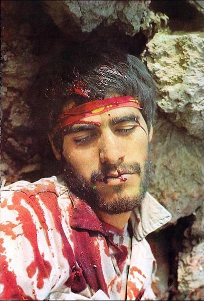 پرونده:Iranian Soldier killed in Iran-Iraq War..JPG