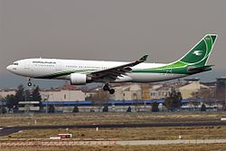Iraqi Airways, YI-AQY, Airbus A330-202 (31817502202).jpg