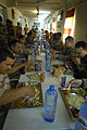 Iraqi army and U.S. Army soldiers dine together DVIDS91630.jpg