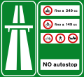 Italian traffic signs - Inizio autostrada.svg
