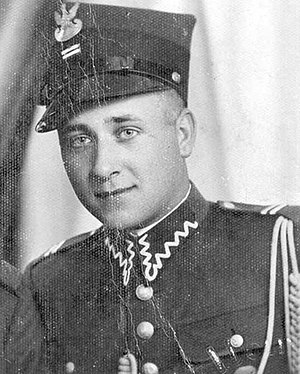Józef Franczak - Józef Franczak as corporal of Military Police in Poland before 1939