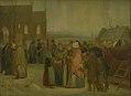Jørgen V. Sonne - Peasants outside the Church on a Christmas Morning - KMS3761 - Statens Museum for Kunst.jpg