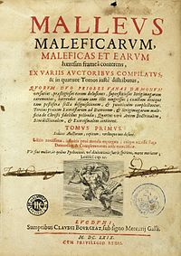 J. Sprenger and H. Institutoris, Malleus maleficarum. Wellcome L0000980.jpg