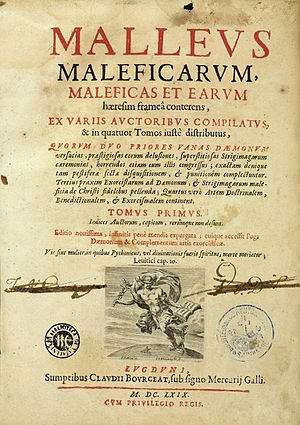 Malleus Maleficarum - Title page of an edition dated 1669