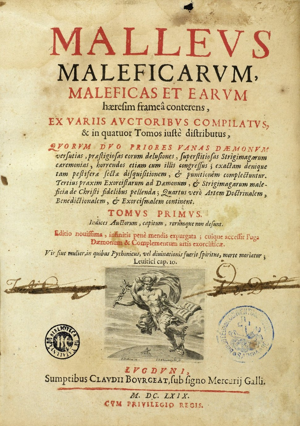 J. Sprenger and H. Institutoris, Malleus maleficarum. Wellcome L0000980