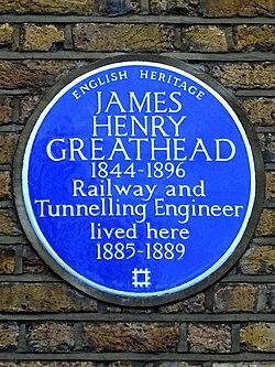 Photo of James Henry Greathead blue plaque