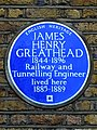 JAMES HENRY GREATHEAD 1844-1896 Railway and Tunnelling Engineer lived here 1885-1889.jpg