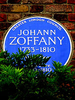JOHANN ZOFFANY 1733-1810 Painter lived here 1790-1810.jpg