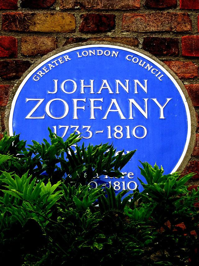 Johann Zoffany blue plaque - Johann Zoffany 1733-1810 painter lived here 1790-1810
