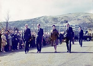 Royal Signals and Radar Establishment - Queen Elizabeth II and Prince Philip visiting RSRE in 1976