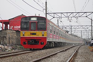 203 series - A KRL Jabodetabek 203 series on the Bogor Line in July 2012