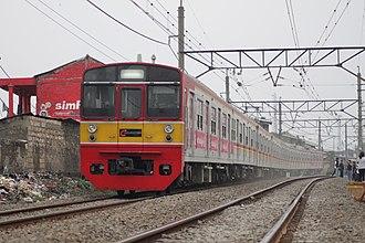 203 series - A KRL Jabodetabek 203 series on the Bogor Line in July 2012