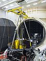 JWST being prepared for the Space Environment Simulation Laboratory's Chamber A.jpg