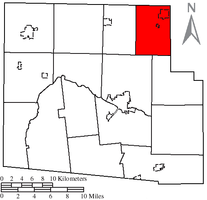 Location of Jackson Township, Hardin County, Ohio
