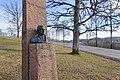 Jacob Sverdrup Monument (bust by Gustav Lærum) at Melsom Videregående skole, Melsomvik, Tønsberg, Norway. 2019-03-25 B.jpg