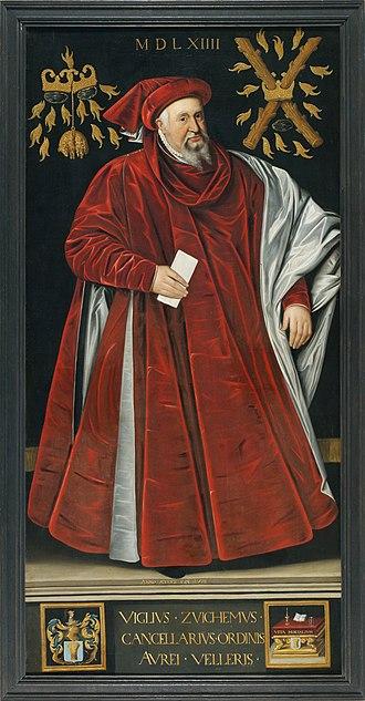 Jacob de Punder - Portrait of Viglius of Aytta