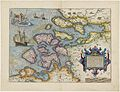 Jacob van Deventer - Coloured map of Zeeland - Zelandicarum Insularum exactissima et nova descriptio.jpg